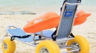 水陸両用の車いすバギー